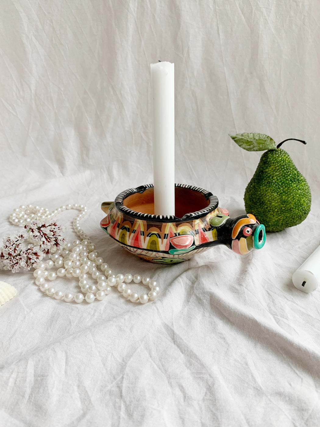 Terracotta Turtle Candlestick Holder | Storytellers Workshop