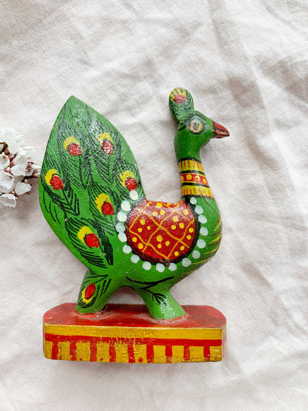 Vintage Swedish Folk Art Wooden Bird Ornaments
