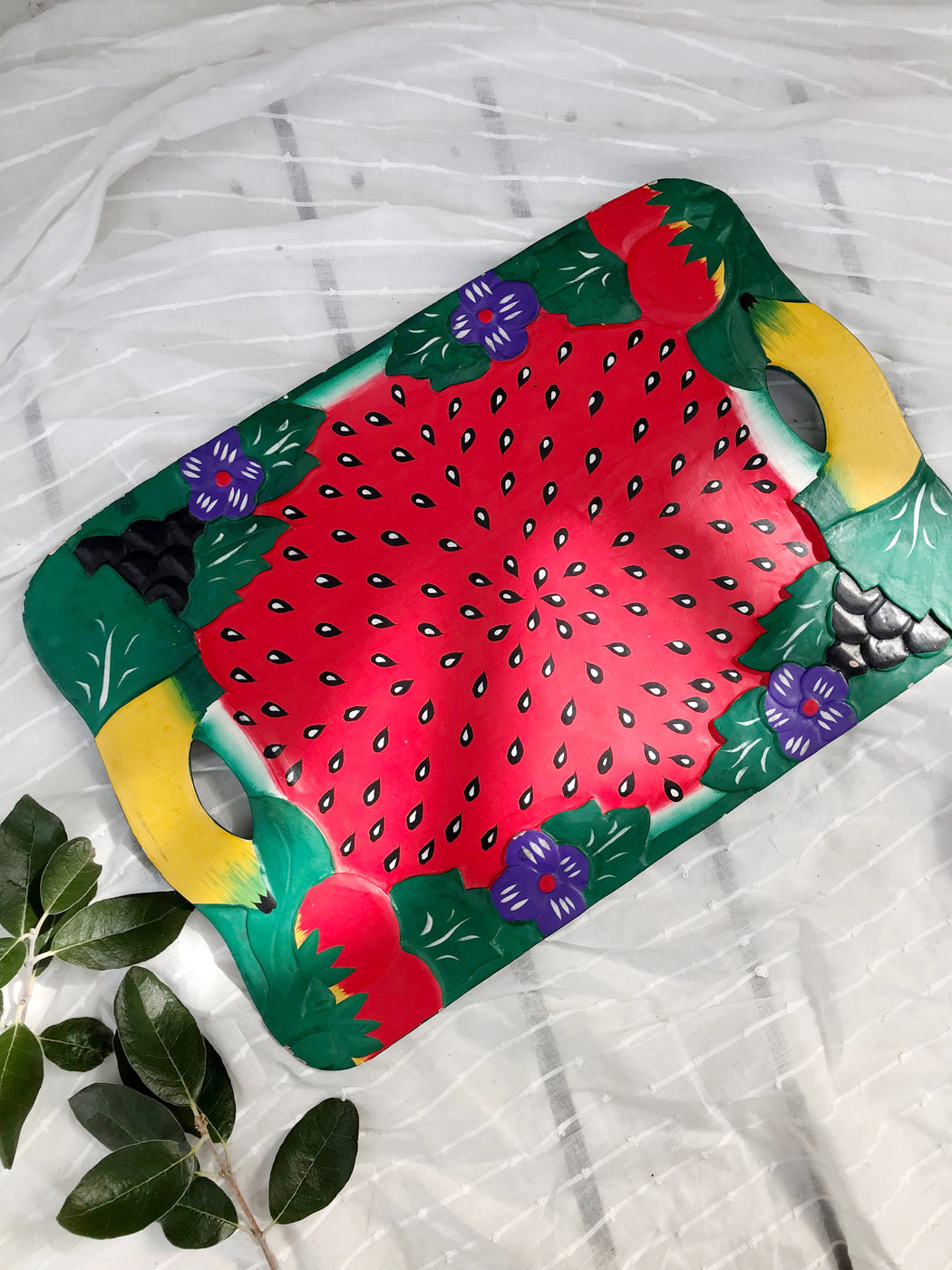 Watermelon Fruit Salad Serving Tray