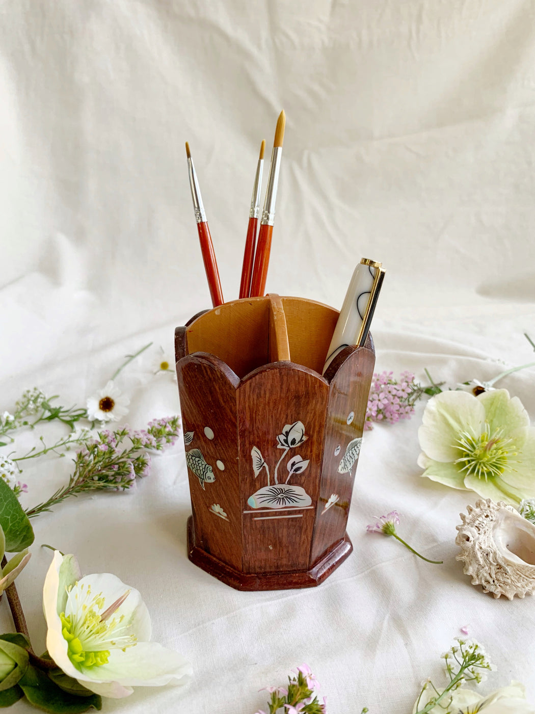 Wooden Pencil Storage Holder