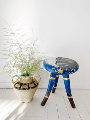 90's Wooden Moon Stool