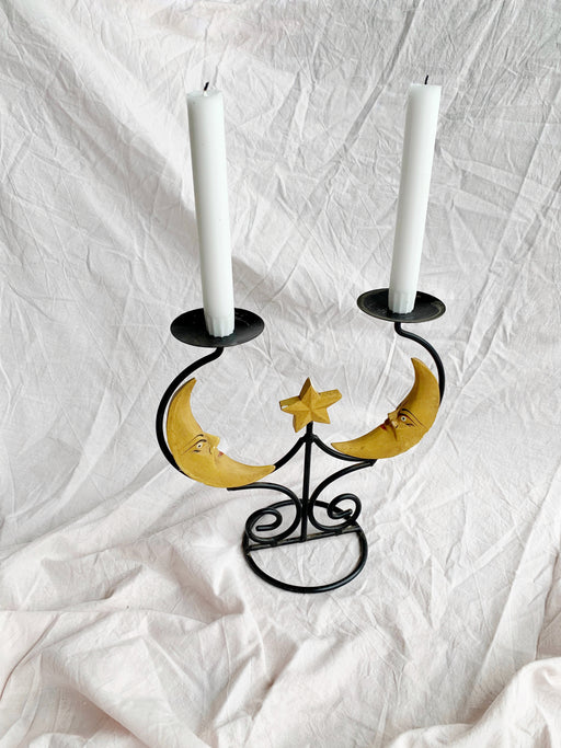Moon Candlestick Holder