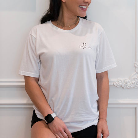 All In White Unisex Tee
