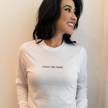 Load image into Gallery viewer, Cheat Day Shirt White Unisex Long Sleeve