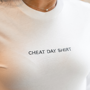 Cheat Day Shirt White Unisex Long Sleeve
