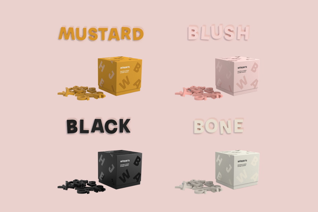 wordbits and mustard made - alphabet magnet exclusive collaboration