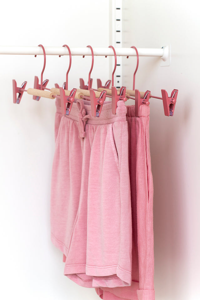 Adult Clip Hangers in Berry