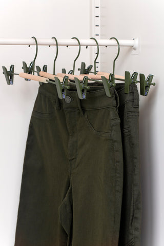 Adult Clip Hangers in Olive