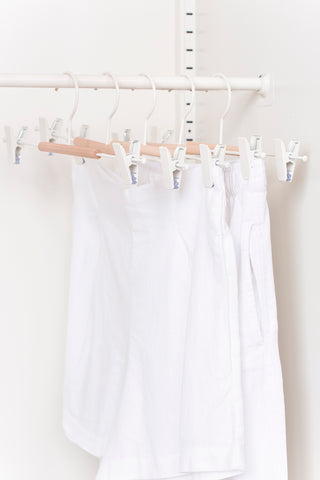 Adult Clip Hangers in White