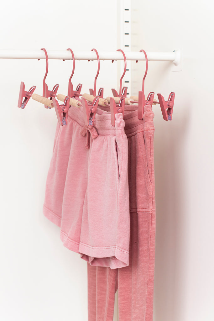 Kids Clip Hangers in Berry