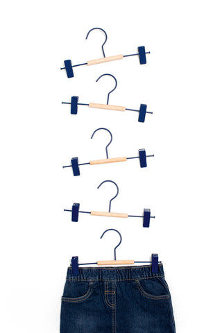 Kids Clip Hangers in Navy