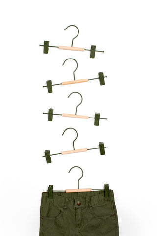 Kids Clip Hangers in Olive