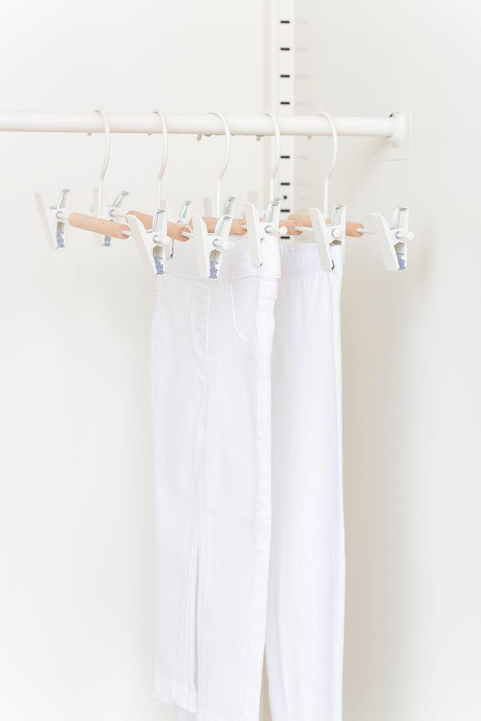 Kids Clip Hangers in White