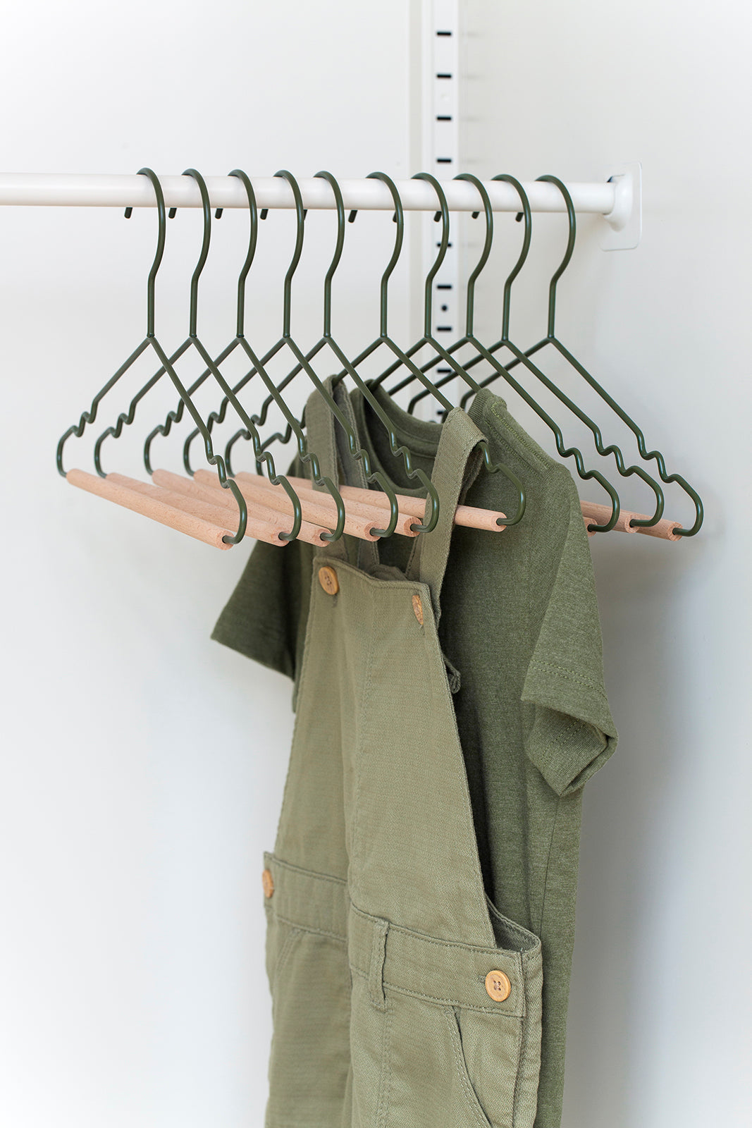 Kids Top Hangers in Olive