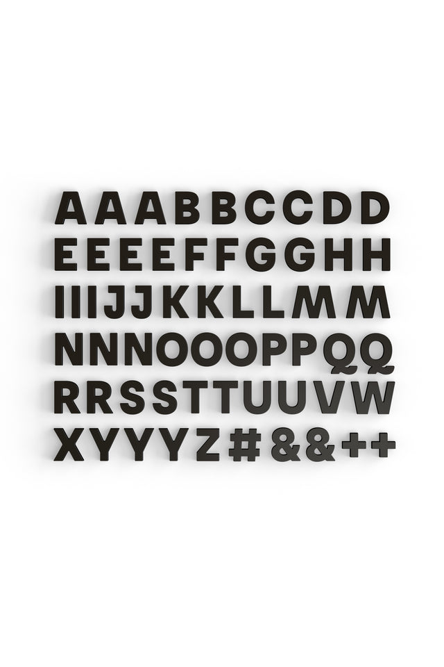 Alphabet Magnets in Black