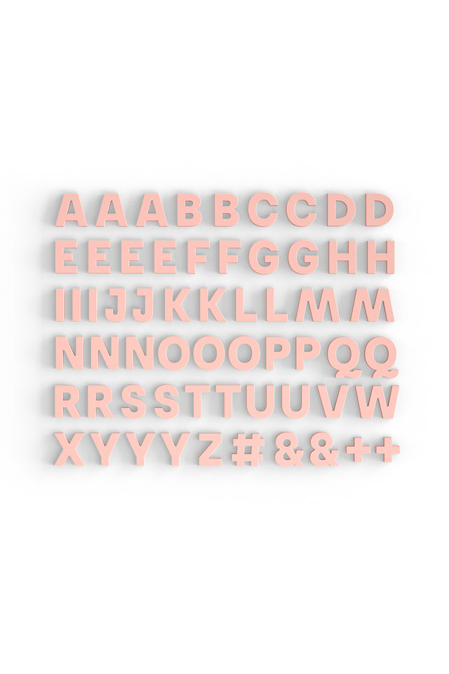 Alphabet Magnets in Blush