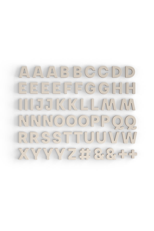 Alphabet Magnets in Bone