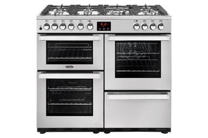 Belling Cookcentre 100cm Dual Fuel Range Cooker - Stainless Steel | 100DFTPROFSTA