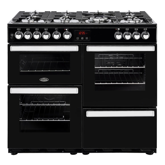 Belling Cookcentre 100cm Dual Fuel Range Cooker - Black | 100DFTBLK