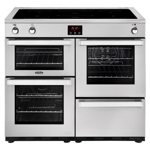 Belling Cookcentre 100cm Induction Range Cooker - Stainless Steel | 100EIPROFSTA