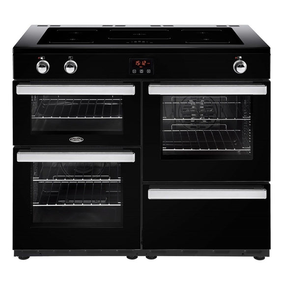 Belling Cookcentre 110cm Induction Range Cooker - Black | 110EIBLK