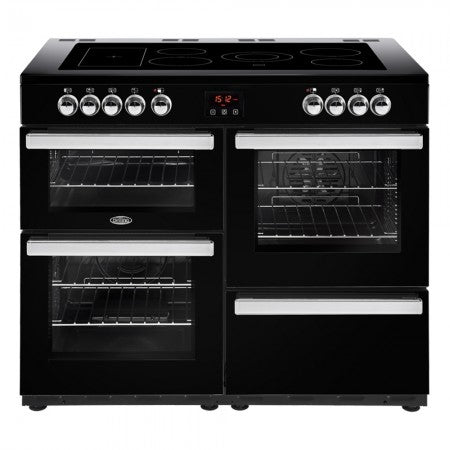 Belling Cookcentre 110cm Electric Range Cooker - Professional Black | 110EPROFBLK