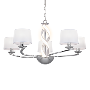 Scarlett 5-light LED Ribbon Fitting with Shades