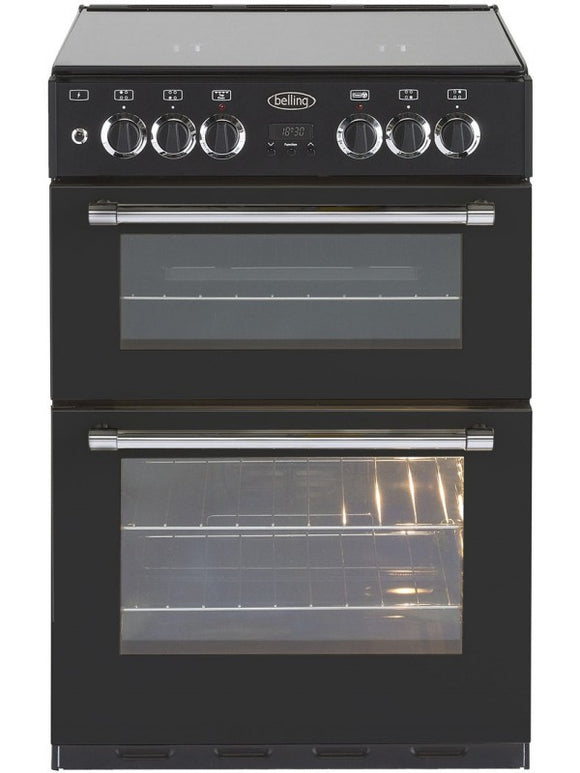Belling Cooker (60BDBLK) - Dual Fuel Cooker, 60cm, Black