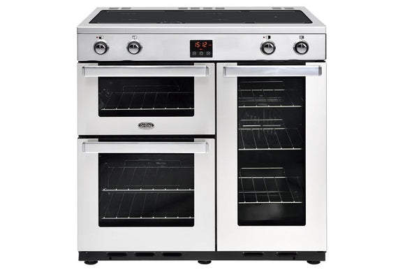 Belling Cookcentre 90cm Induction Range Cooker - Stainless Steel | 90EIPROFSTA