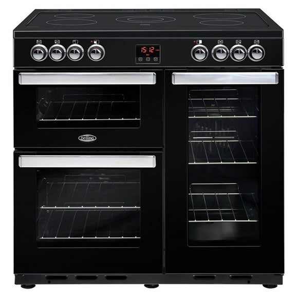 Belling Cookcentre 90cm Electric Range Cooker - Black | 90EBLK