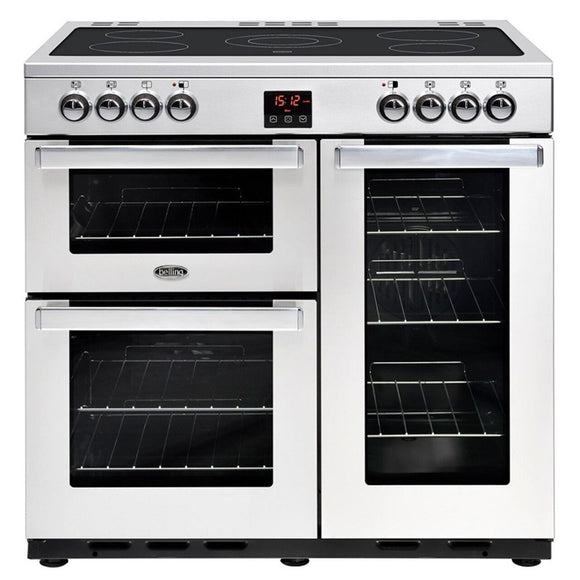 Belling Cookcentre 90cm Electric Range Cooker - Stainless Steel | 90EPROFSTA