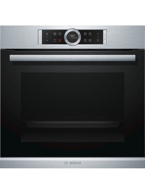 Bosch (HBG674BS1B) Serie 8 Single Pyrolytic Oven - Stainless Steel & Black glass