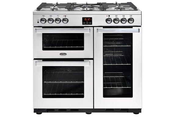 Belling Cookcentre 90cm Dual Fuel Range Cooker - Stainless Steel | 90DFTPROFSTA