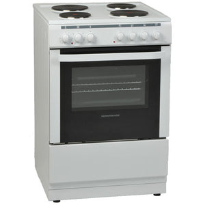 NordMende (CSE60WH) 60cm Electric Cooker With Solid Plates