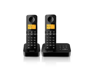 Philips Twin Cordless Phone with Answer Machine & Speaker Phone