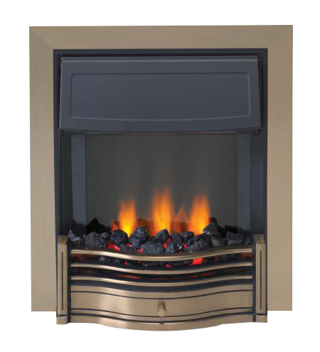 Dimplex Optiflame Danesbury Antique Brass LED Inset Fire