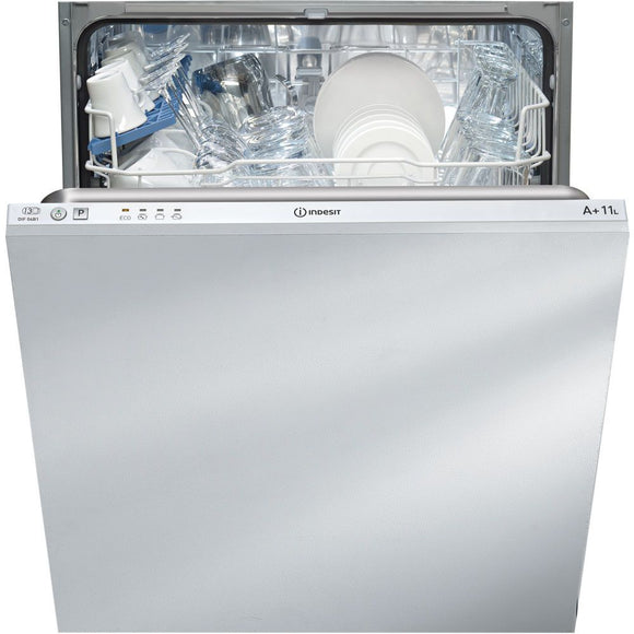 Indesit DIF 04B1 Ecotime Integrated Dishwasher White