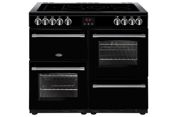 Belling Farmhouse 100cm Electric Range Cooker - Black |FH100EBK
