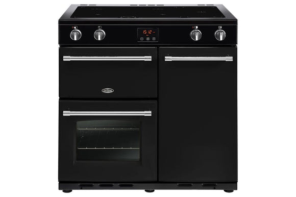 Belling Cookcentre 90cm Induction Range Cooker - Black |90EIBLK