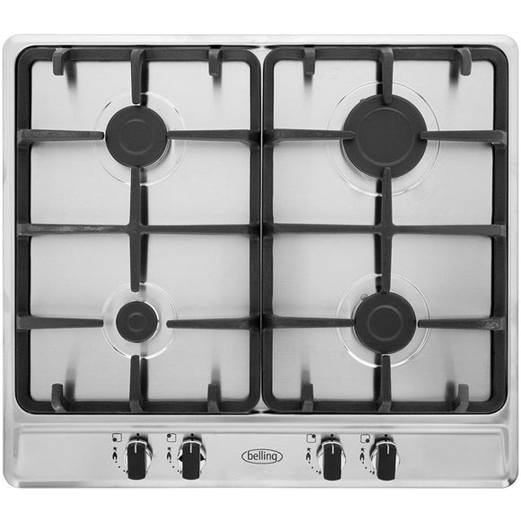 Belling (GHU60GCMK2BLKLPG) 4 Burner LPG Gas Jets - Fitted