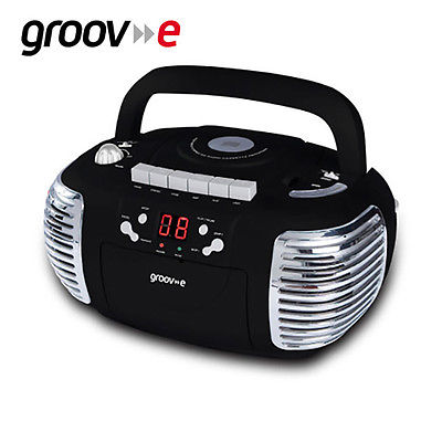 Groov>>e Retro Portable CD & Cassette Player with Radio