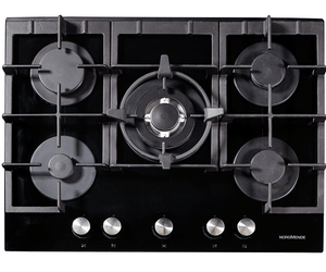 Nordmende (HGX703BGL) 70cm Gas Hob with Wok Burner