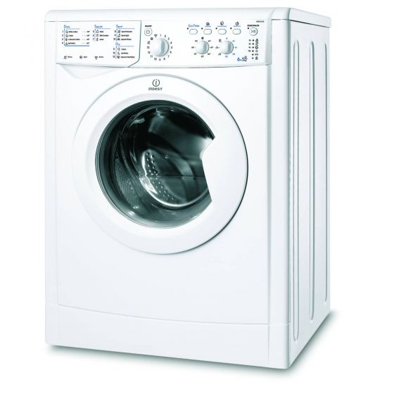 Indesit IWDC6125, 6/5kg, 1200 Spin, Washer Dryer, White