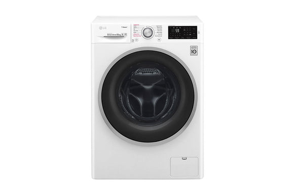LG Steam™ F4J6JY1W 10Kg 1400 Spin Washing Machine - White