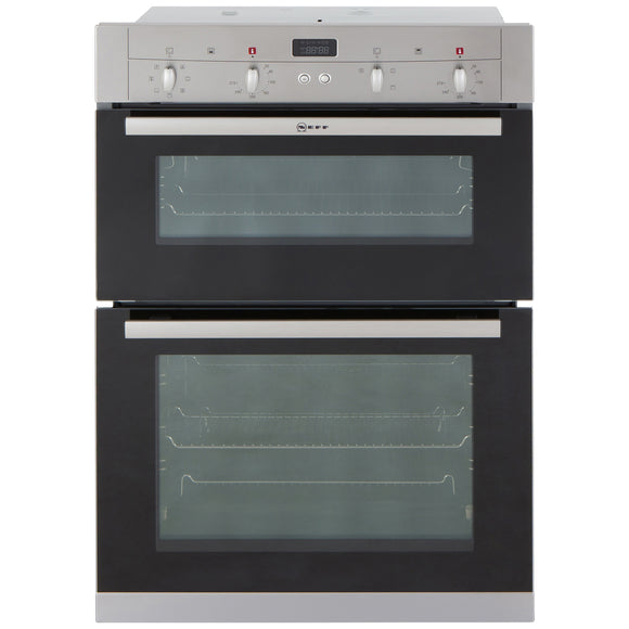 Neff (U12S53N3GB) 60cm Built-in Double Electric Oven, Multi-Function