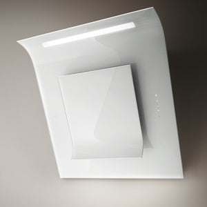 Elica Sinfonia White Wall Mounted Angled Chimney Hood