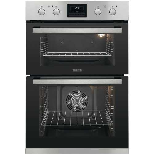 Zanussi Built In Electric Double Oven Stainless Steel (ZOD35802XK)