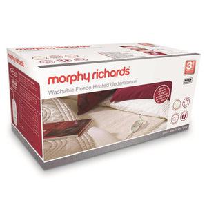 Morphy Richards (600012) Double Washable Fleece Heated Underblanket