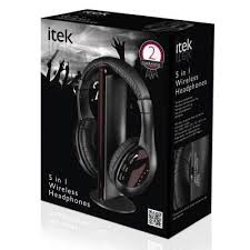 Itek Wireless Headphones with FM Radio