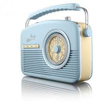 Akai Retro Kitchen Radio Blue